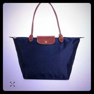 "Longchamp ""le pliage"" nylon shoulder tote"